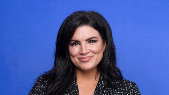 """This Oct. 19, 2019 photo shows Gina Carano at the Disney Plus launch event promoting """"The Mandalorian"""" at the London West Hollywood hotel in West Hollywood, Calif. The ambitious eight episode show with the budget of a feature film is one of the marquee offerings of the Walt Disney Co.'s new streaming service, Disney Plus, which launches Nov. 12. (Photo by Mark Von Holden/Invision/AP)"""