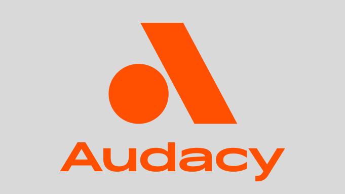 Audacy logo - Entercom name change