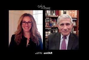 Dr. Anthony Fauci Honored by Julia Roberts at AMFAR's Gala for Our Time