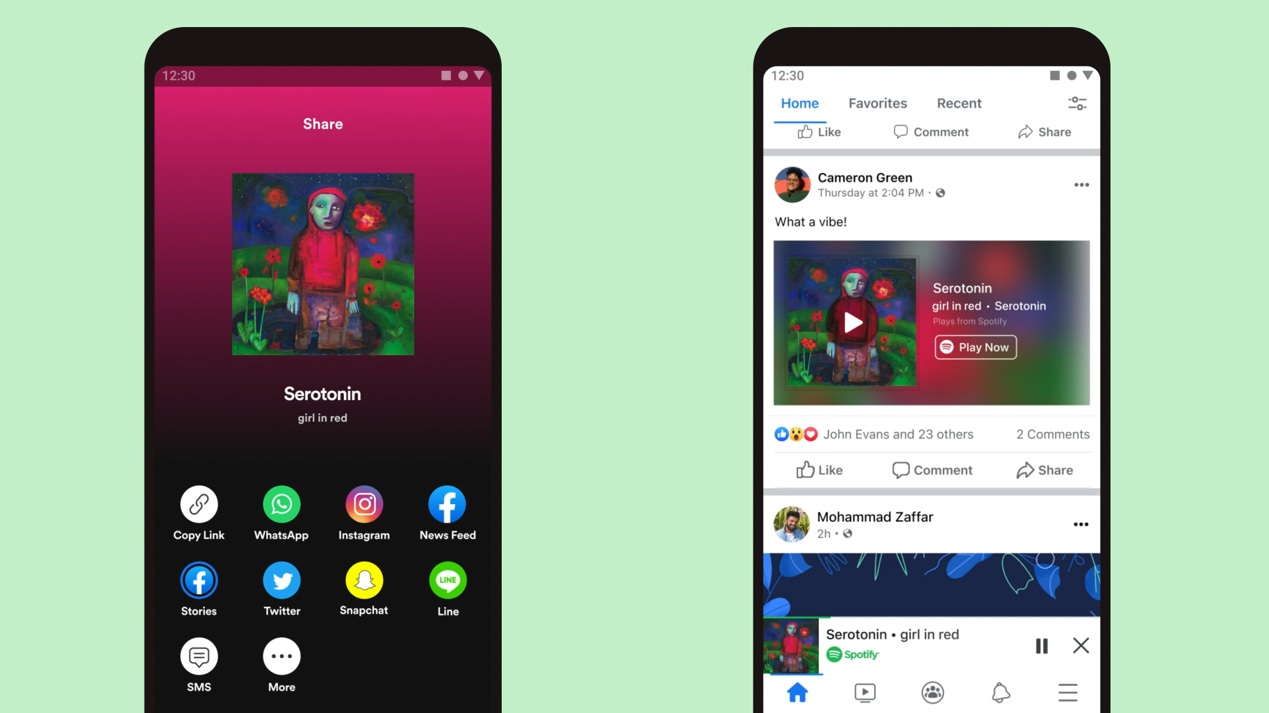 You Can Now Play Spotify Directly in Facebook Mobile App