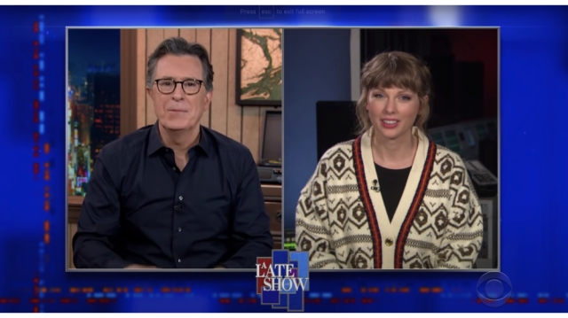 Taylor Swift Reveals to Stephen Colbert Who 'Hey Stephen' Is Really About.jpg