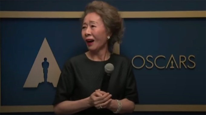 Yuh-Jung Youn Backstage at the Oscars