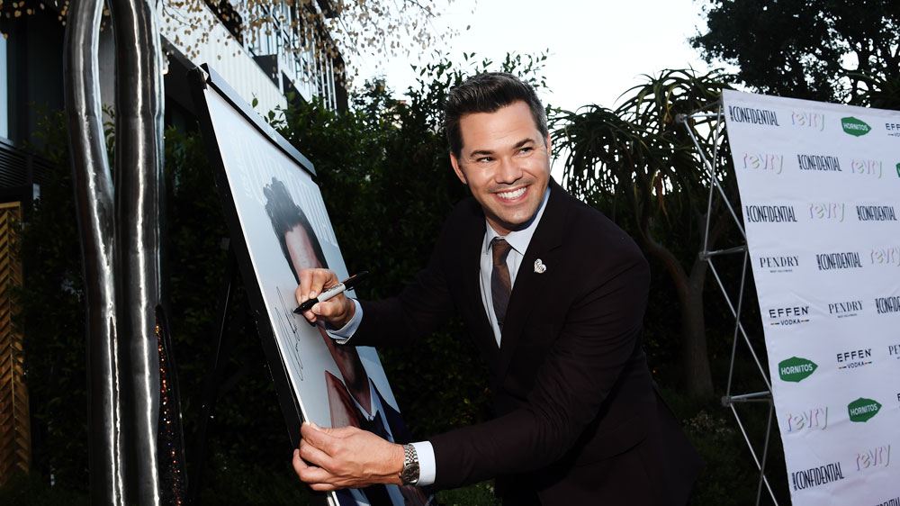 Andrew Rannells attends the Los Angeles Confidential Portraits of Pride event at The Pendry on June 9, 2021.