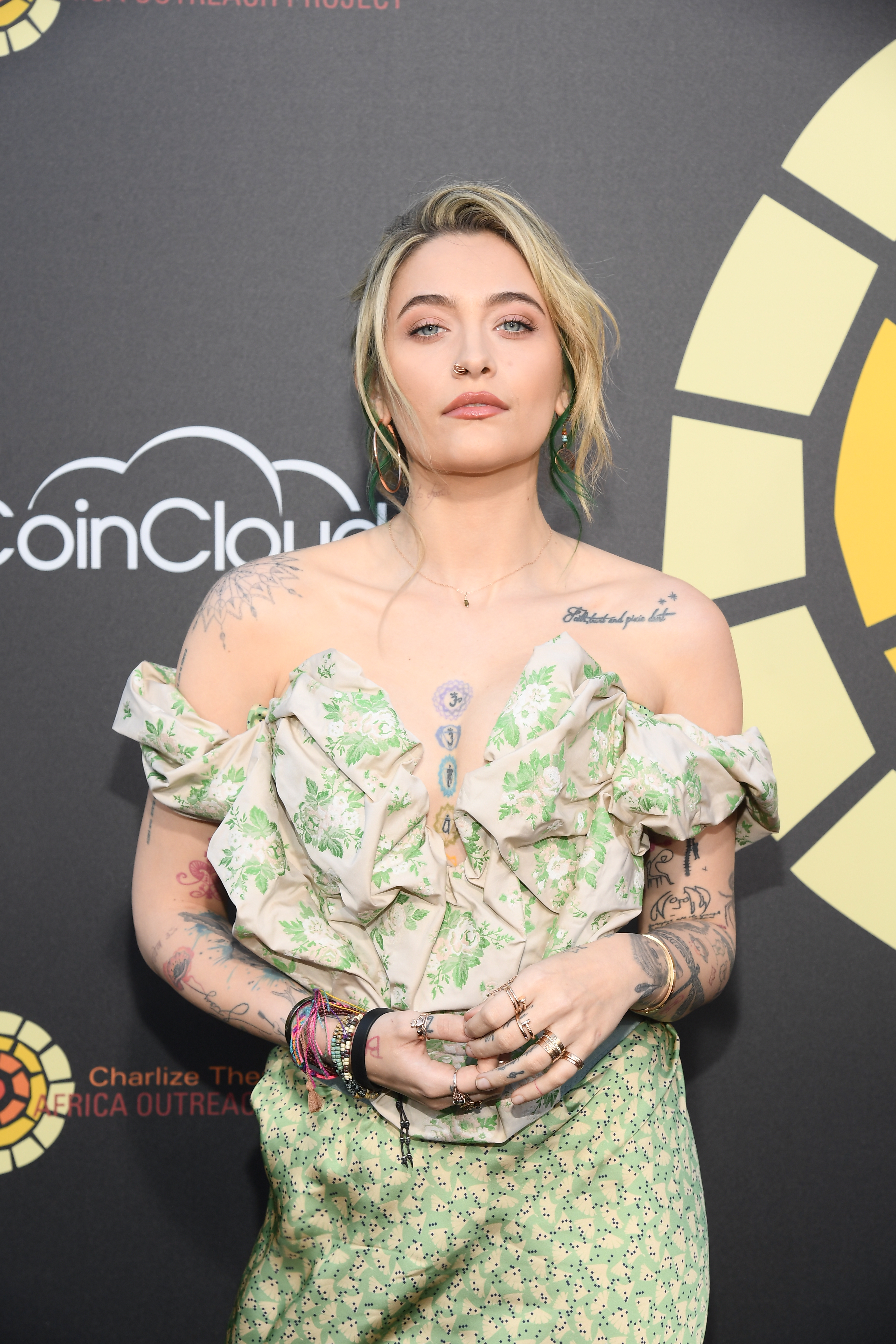Paris Jackson attends Charlize Theron's CTAOP Night Out: Fast & Furious screening of Fast 9 at Universal Studios on June 26, 2021 in Los Angeles, California.