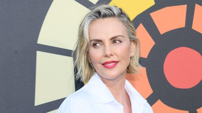Charlize Theron attend Charlize Theron's CTAOP Night Out: Fast & Furious screening of Fast 9 at Universal Studios on June 26, 2021 in Los Angeles, California.