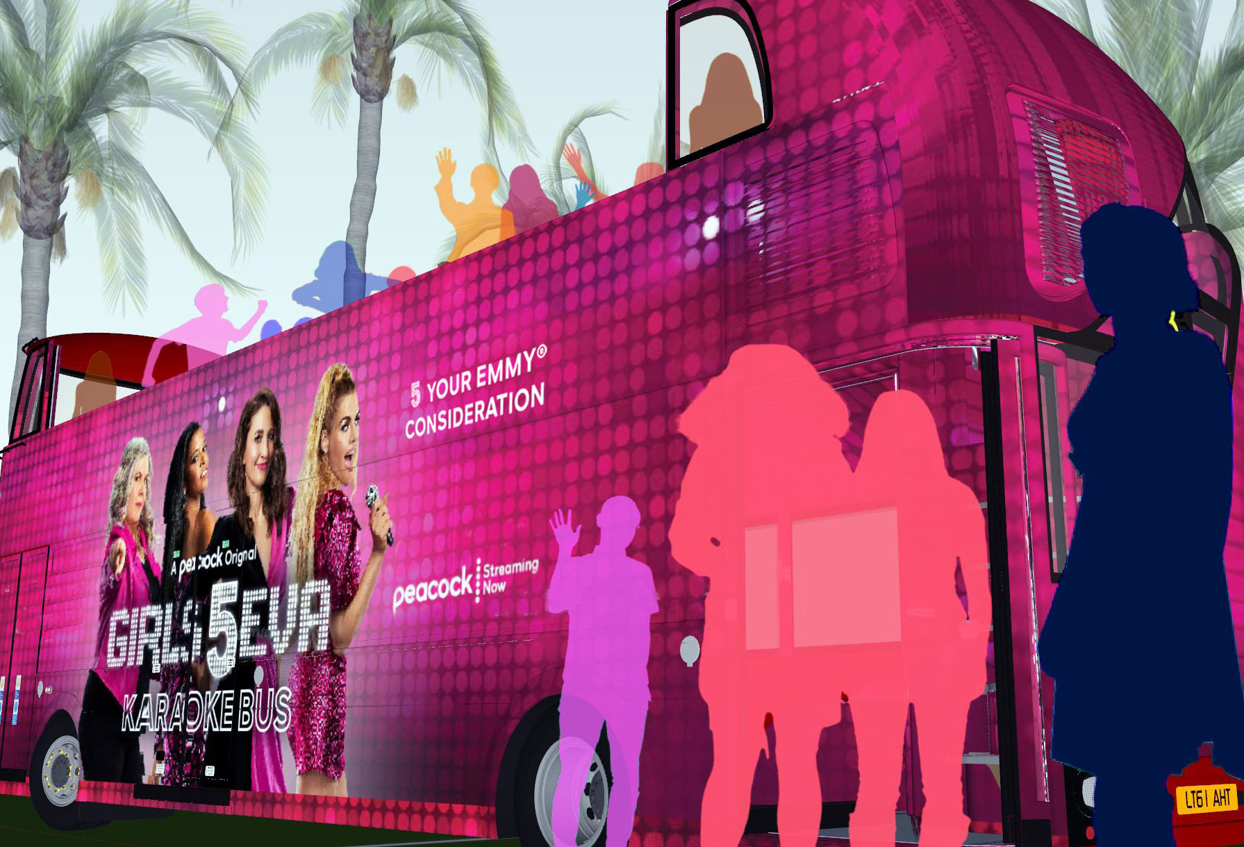 Peacock 'Girls5Eva' FYC Campaign, Supporting Local L.A ...
