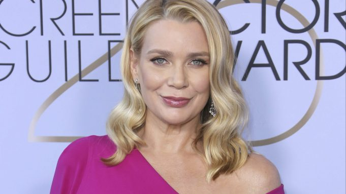 Laurie Holden arrives at the 25th annual Screen Actors Guild Awards at the Shrine Auditorium & Expo Hall on Sunday, Jan. 27, 2019, in Los Angeles. (Photo by Willy Sanjuan/Invision/AP)