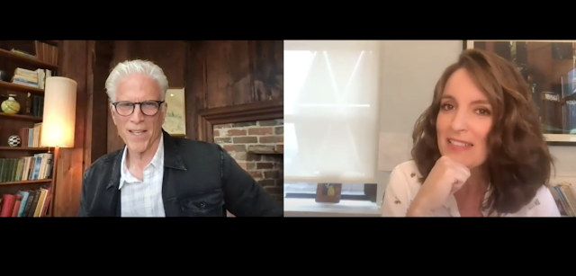 Tina Fey, Ted Danson Grill Each Other on 'Cheers,' 'Saturday Night Live' and 'Mr. Mayor'.jpg