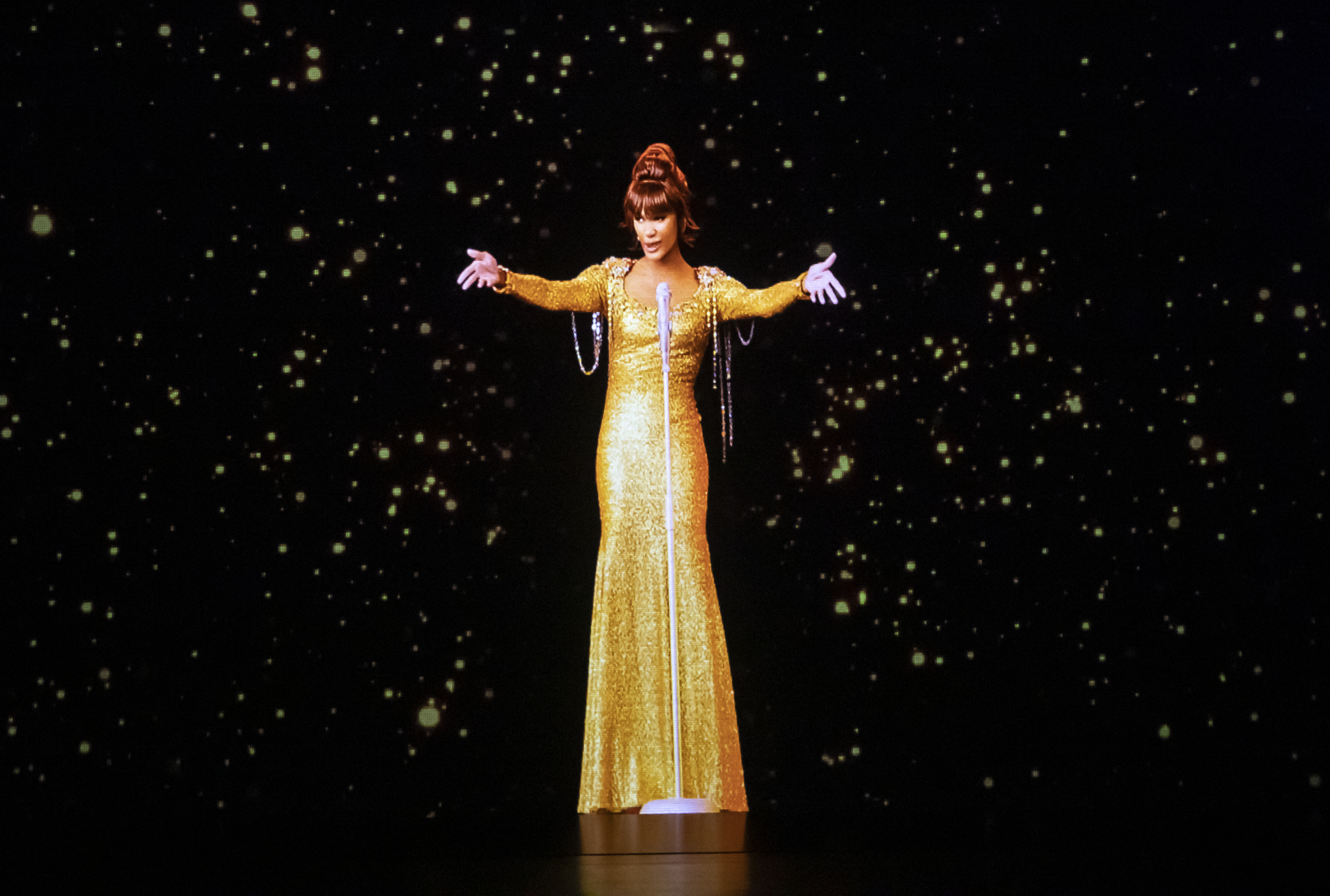 A dress rehearsal for the Whitney Houston hologram tour, which opens tonight at City Hall in Sheffield, before embarking on a international tour.