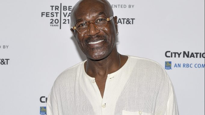 """Actor Delroy Lindo attends the red carpet for the """"Untitled: Dave Chappelle Documentary"""" Premiere at Radio City Music Hall during the 2021 Tribeca Festival In New York, NY, June 19, 2021. (Photo by Anthony Behar/Sipa USA)(Sipa via AP Images)"""