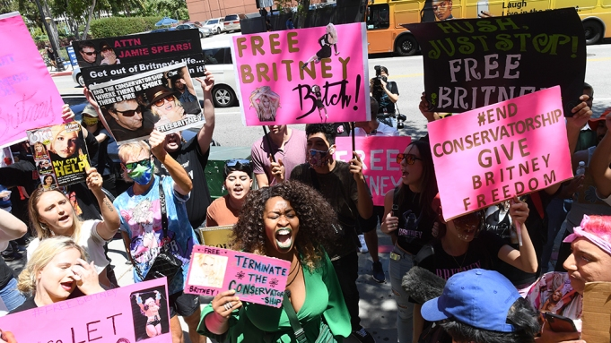 Free Britney Courthouse Rally