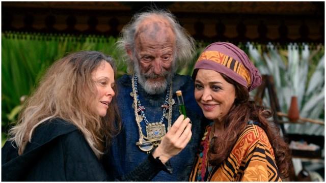 Tami Stronach, Jennifer Saunders, Greg Steinbruner, Eddie Izzard Lead Cast of 'Man & Witch'.jpg