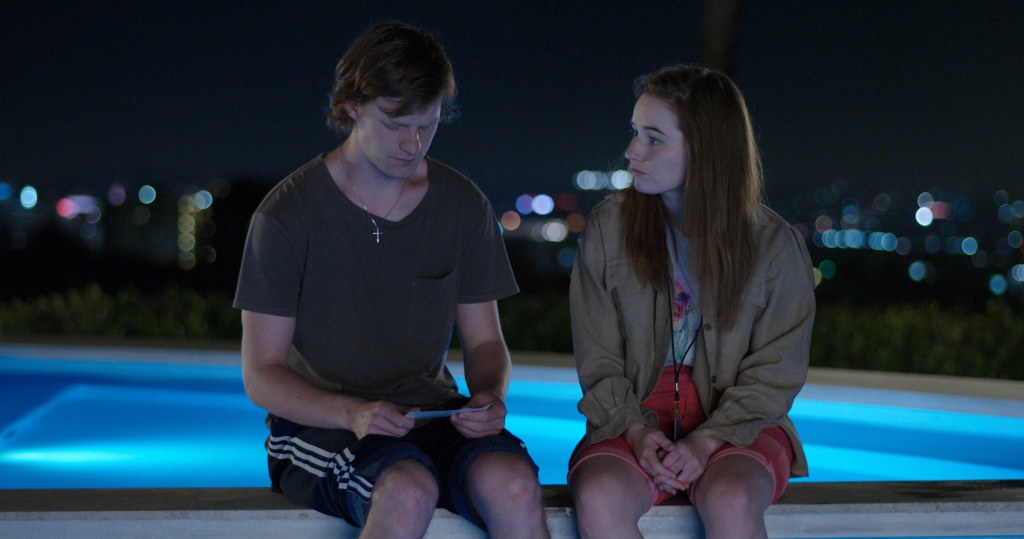 The Premise — Pictured: (l-r): Lucas Hedges as Jesse Wheeler, Kaitlyn Dever as Abbi. CR: FX