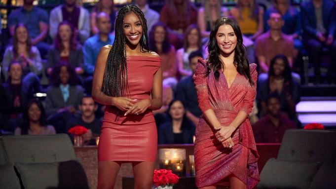 Tayshia Adams Kaitlyn Bristowe Bachelorette hosts