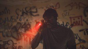 Yahya Abdul-Mateen II as Anthony McCoy in Candyman, directed by Nia DaCosta.