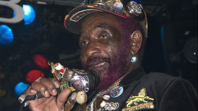 Lee Scratch Perry (reggae legend) performs
