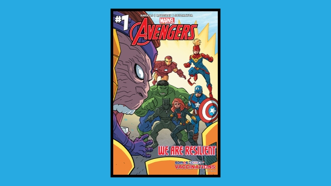 Avengers Vaccination Cover Marvel