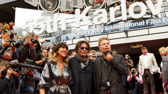 Johnny Depp Appears on Stage at