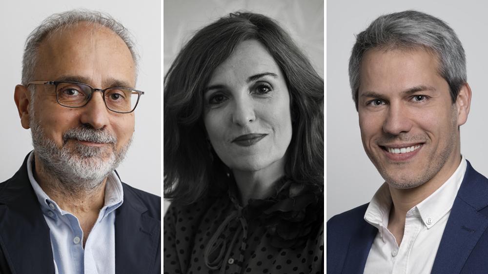 Alberto Macias, Elvira Lindo and Daniel Domenjo