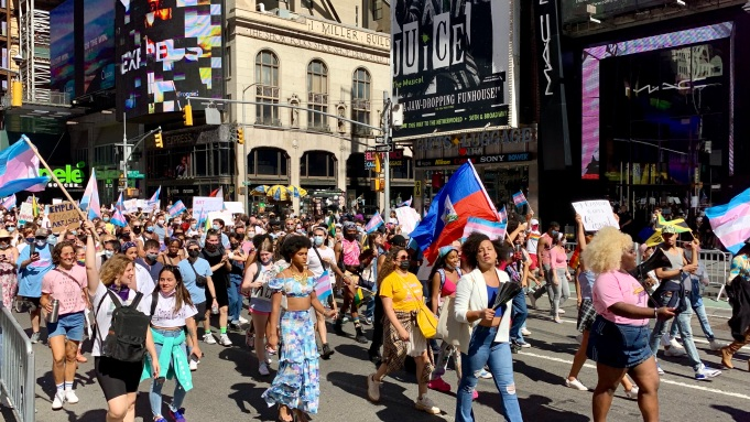 Transgender March on Broadway Slams Cameron