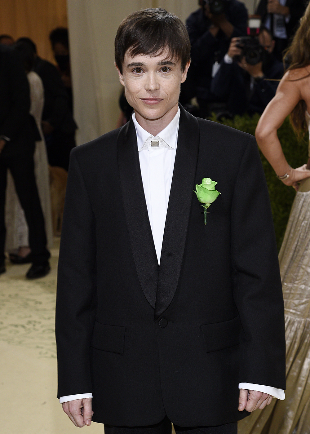 """Elliot Page attends The Metropolitan Museum of Art's Costume Institute benefit gala celebrating the opening of the """"In America: A Lexicon of Fashion"""" exhibition on Monday, Sept. 13, 2021, in New York. (Photo by Evan Agostini/Invision/AP)"""
