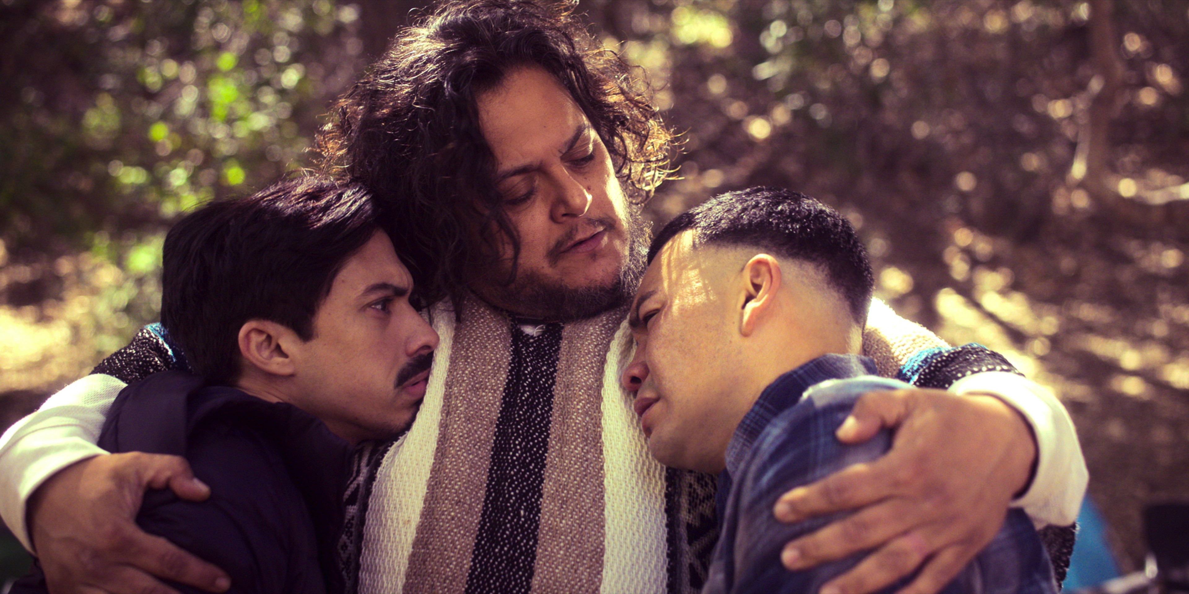 Gentefied Season 2 (L-R). Carlos Santos as Chris, Felipe Esparza as Dave, JJ Soria as Erik, in Gentefied Season 2. COURTESY OF NETFLIX/Netflix © 2021
