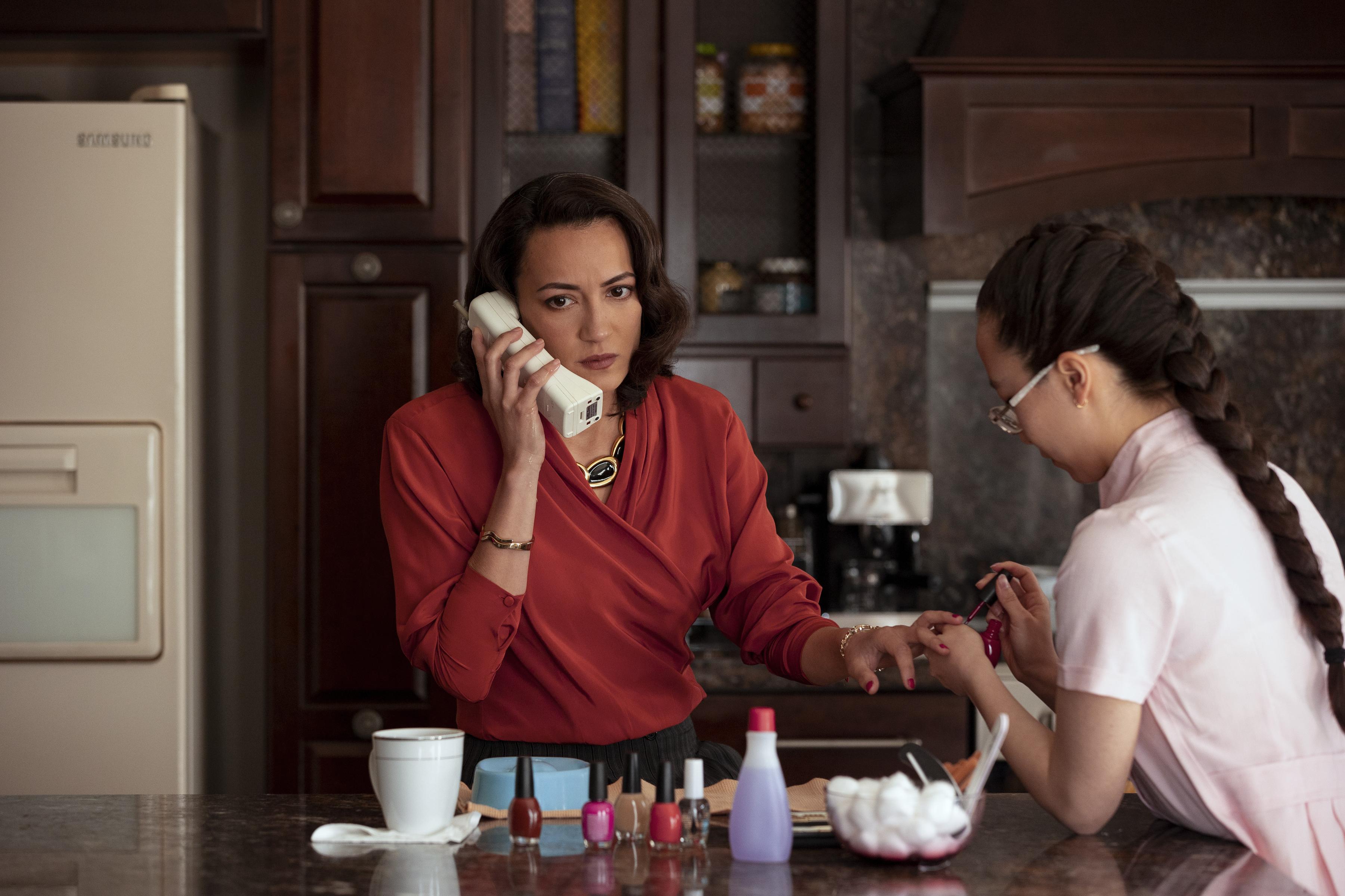 NARCOS MEXICO (L to R) MAYRA HERMOSILLO as ENEDINA ARELLANO FELIX in episode 309 of NARCOS MEXICO Cr. JUAN ROSAS/NETFLIX © 2021