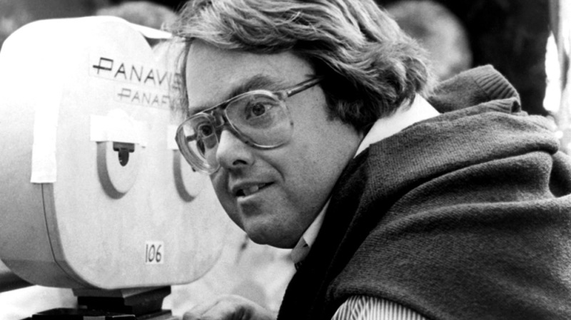 Producer ALLAN CARR on the set of CAN'T STOP THE MUSIC, 1980