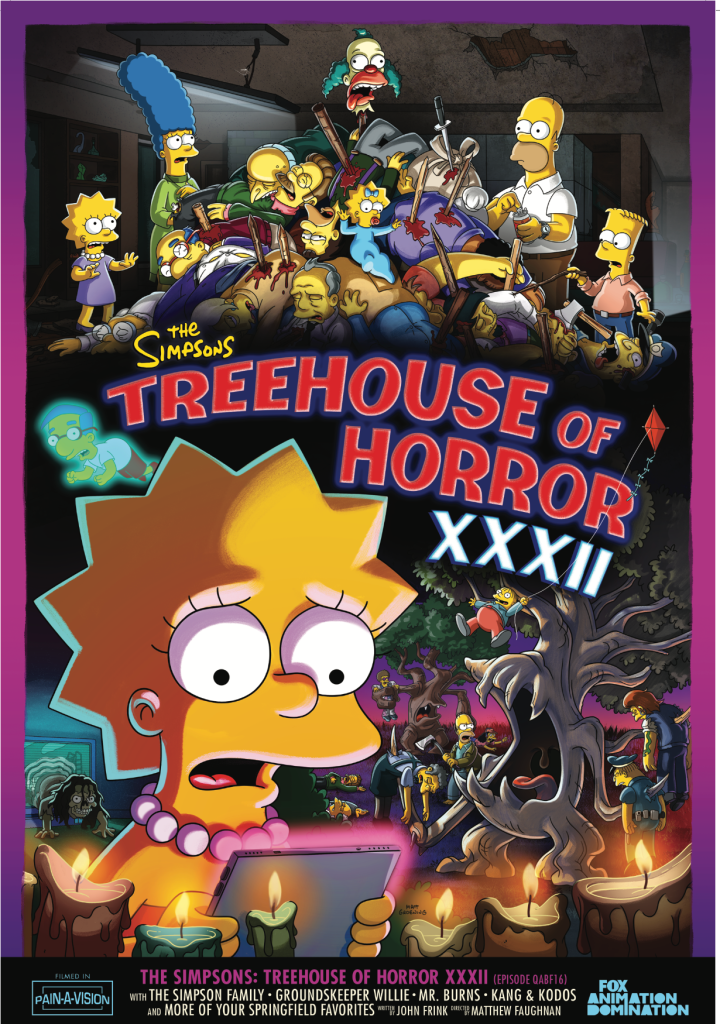 THE SIMPSONS TREEHOUSE OF HORROR XXXII POSTER