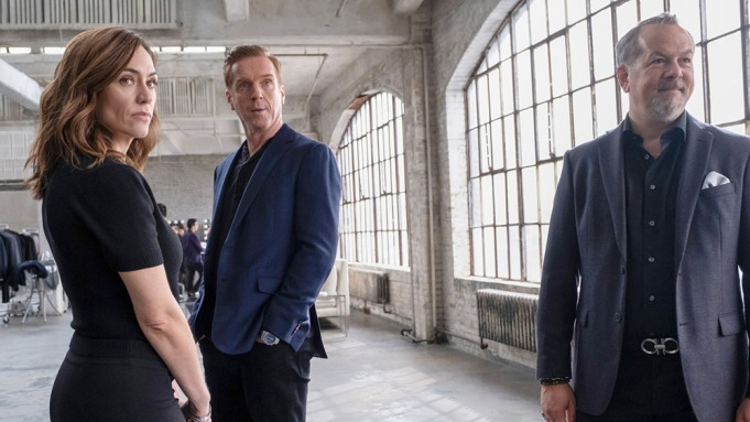 BILLIONS, from left: Maggie Siff, Damian